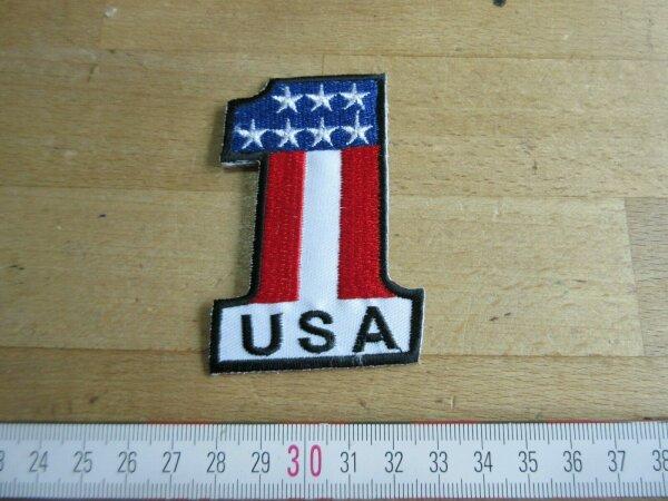 USA Number 1 Patch US Flagge Flag Stars & Stripes Rockabilly Biker Hot Rod