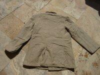 Vintage Cotton Peacoat Jacket US Army Car GI Rugged Guys WK2 Marines USMC Khaki