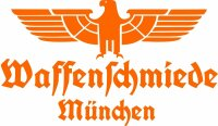 Waffenschmiede München Fahrzeug Aufkleber Orange...