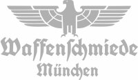 Waffenschmiede München Fahrzeug Aufkleber Silber...