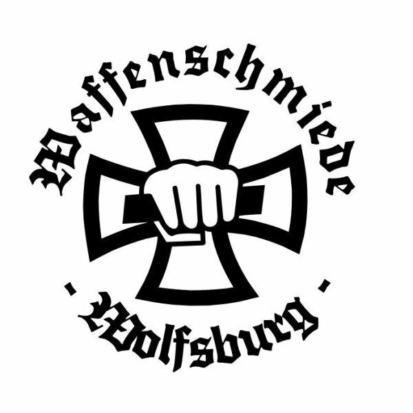 Waffenschmiede Wolfsburg Sticker Aufkleber Blck1 Eisernes Kreuz Iron Cross Eagle