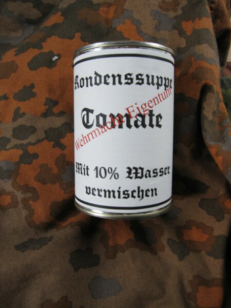 Wehrmacht Kondenssuppe Tomate Field Ration Tomato Soup WKII WH WK2 Lunch Dinner