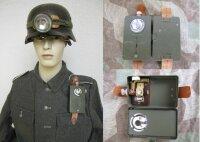Wehrmacht Taschenlampe 1944 Pertrix m Stirnlampe WK2...