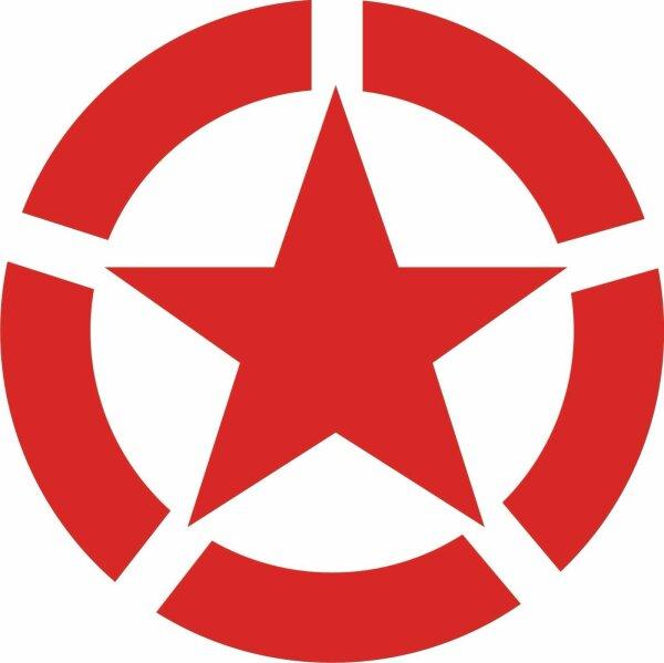 Allied Star Fahrzeug Aufkleber D Rot US Army USMC US Car Truck WWII WK2