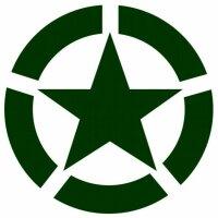 Allied Star Fahrzeug Aufkleber Grün US Army USMC US...