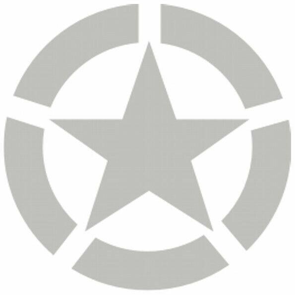 Allied Star Fahrzeug Aufkleber Silbe US Army USMC US Car V8 Truck Ram WWII WK2