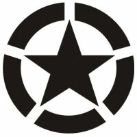 Allied Star Fahrzeug Aufkleber Weiß1 US Army USMC...