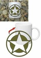 Allied Star Kaffee Becher Tasse Coffee Mug Star US Army...
