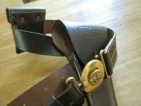 M1911 Colt Holster Officer Belt Chocolate US Army Navy...