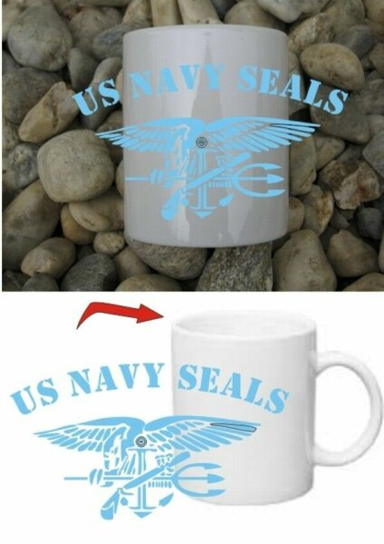 Navy Seals Eagle & Anchor Insignia Kaffee Tasse Army Special Forces Marines WWII