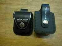 Original Zippo Echt Leder Tasche mit Clip oder Schlaufe...