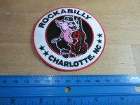Patch Rockabilly Charlotte NC Swinging Pig Vintage Nose...