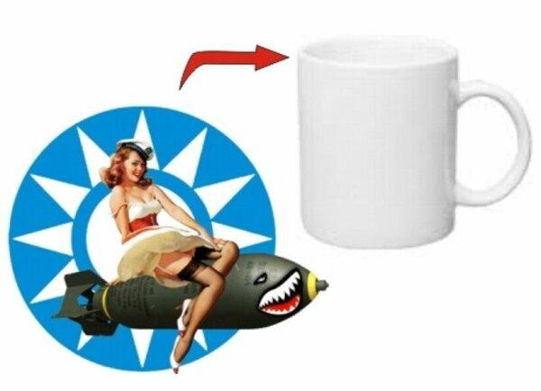 Pin-up Matrose Allied Star Kaffee Tasse USMC Army Navy Seals Marines Rockabilly