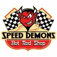 Shirt Speed Demons Hot Rod Shop Devil Face Retro Rockabilly US Car V8 Flathead