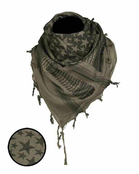 Halstuch Shemagh 110x110cm Paratrooper Stars Scarf Schal Plo Kopftuch Army
