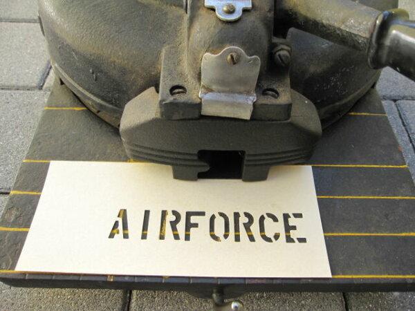"""Stencil Lackier Schablone AIRFORCE 3/4"""" USMC Marines Vietnam Navy US Army"""