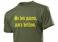 "T-Shirt ""Si vis pacem, para bellum."" ""Wenn du Frieden willst... Gr 3-5XL WH WK2"