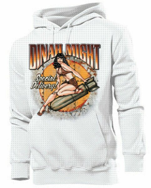 Hoody Rockabilly Dinah Might Special Delivery Pin-up US Car Hot Rod Nose Art V8