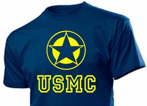 "T-Shirt Allied Star ""USMC"" Airforce Marines Navy Seals Vietnam US Army Gr S-XXL"