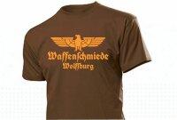 """T-Shirt Waffenschmiede """"Ihre Stadt / Name"""" mit Adler Gr 3-5XL Weapon Blacksmith"""