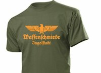 T-Shirt Waffenschmiede Ingolstadt mit Adler Gr S-XXL Eagle Weapon Blacksmith