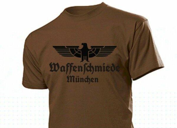 T-Shirt Waffenschmiede München mit Adler Gr S-5XL Eagle Weapon Blacksmith Munich