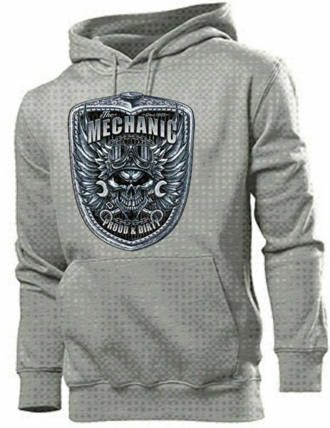 Hoody Skull Mechanic Wings Grill Proud & Dirty Pinup US Car Hot Rod Nose Art V8