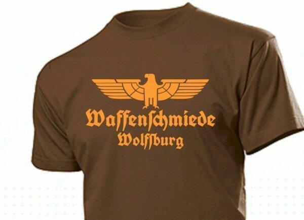 T-Shirt Waffenschmiede Wolfsburg mit Adler Gr 3-5XL Eagle Weapon Blacksmith