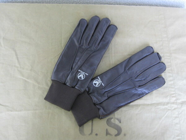 US Army Airforce Pilot Gloves A-10 USAAF Flight Gloves Leder Handschuhe GR L