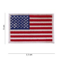 Patch / Aufnäher Flagge US Army white Border