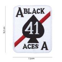 Patch / Aufnäher Flagge US Army 41 Black Aces Deathcard