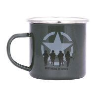 Emaille Tasse Brothers in Arms US Army Allied Star Oliv