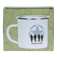 Emaille Tasse Brothers in Arms US Army Allied Star...
