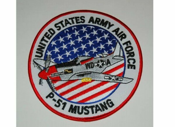 US Army Mighty Eighth 8th USAAF P-51 Mustang Jersey Jerk Nose Art Patch WK2 #2