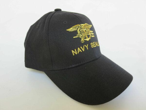 US Army Navy Seals Baseball Cap Black Insignia Eagle & Anchor USMC Marines Navy