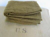 US Army Quartermaster Decke Wolldecke Blanket Mustard...