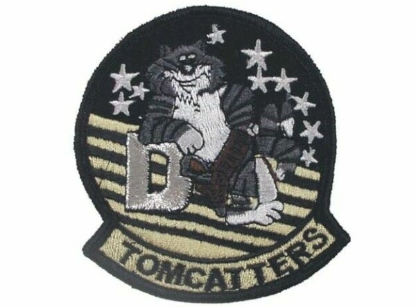 """US Army Tomcatters VF-31 """"D"""" Felix the Cat Naval Fighting 31 Aufnäher Patch USMC"""