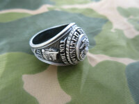 US Army USMC Marines Corps Insignia Ring 1775 Jun Tavern 1945 Iwo Jima WK2 Gr 13