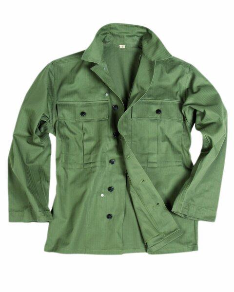 US Army WWII HBT Feldhemd Gr XL Field Shirt Vietnam USMC WK2 Navy Marines