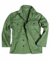 US Army WWII HBT Feldhemd Gr XL Field Shirt Vietnam USMC...