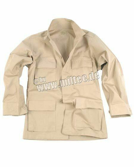 "US BDU Feldjacke R/S ""Light Jacket"" Khaki / Coyote Gr M Army Navy Paratrooper"