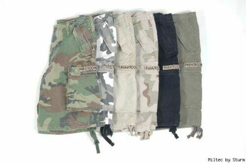 US M65 Shorts Schwarz Prewashed Paratrooper Shorts US Shorts Gr M