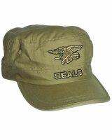 US Navy Seals Field Cap Sand Feldmütze Eagle Anchor...