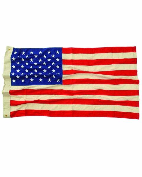 USA Flagge gestickt 50 Sterne Vintage 90x150 50 Stars Flag US Army USMC Marines