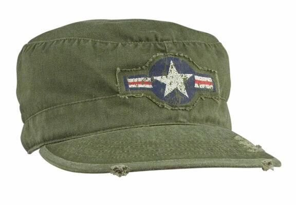 USAF Air Corps Kokarde Vintage Fatigue Cap US Army Airforce Pilots Marines WWII