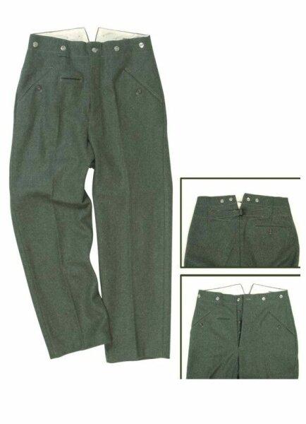 WH Feldhose M40 Wehrmacht Uniformhose Wool Tunic Fieldtrouser Gr 46 WK2 WWII WW2