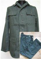 WH M40 Drillich Uniform Feldjacke + Feldhose HBT Tunic Gr...