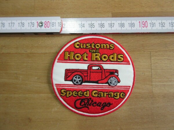Patch Customs and Hot Rods Speed Garage Chicago Nose Art Rockabilly V8 US Car