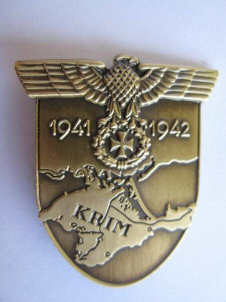 Krim Schild Pin 1941 / 1942 WH Wehrmacht WK2 WWII Anstecker Button