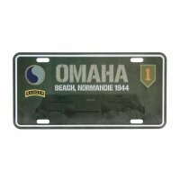 License Plate WK2 US Army Omaha Beach 1944 D-Day